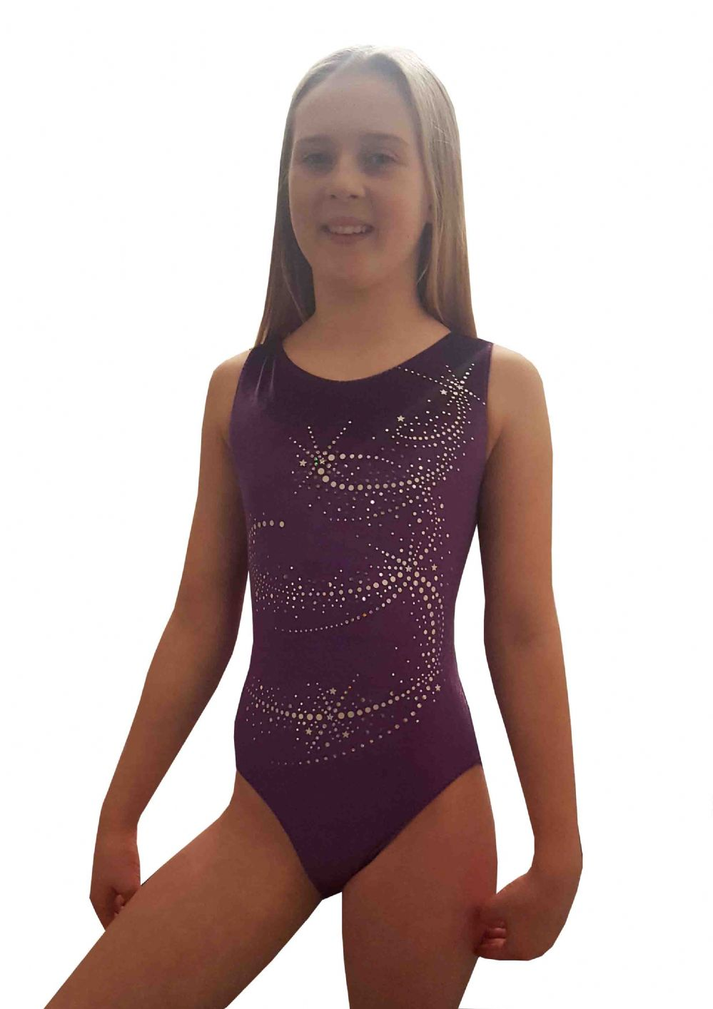 COSMIC PURPLE VELOUR SLEEVELESS From only £25